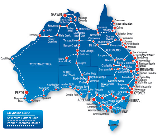 Le bus en Australie , L'Océanie pour les zéros