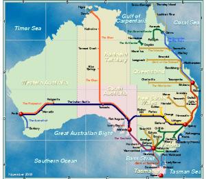 Le train en Australie, L'Ocanie pour les zéros