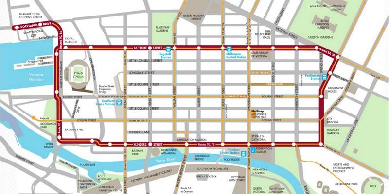 la ligne de tramway gratuite  u00e0 melbourne   city circle tram