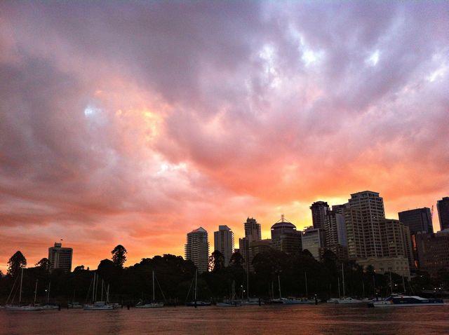 Le coucher de soleil à Brisbane