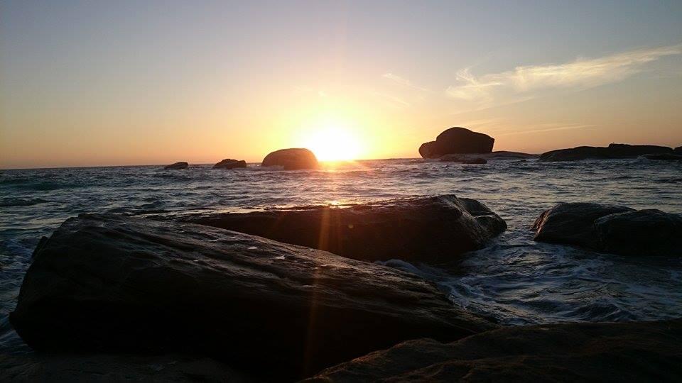 Coucher de soleil à Margaret river australie