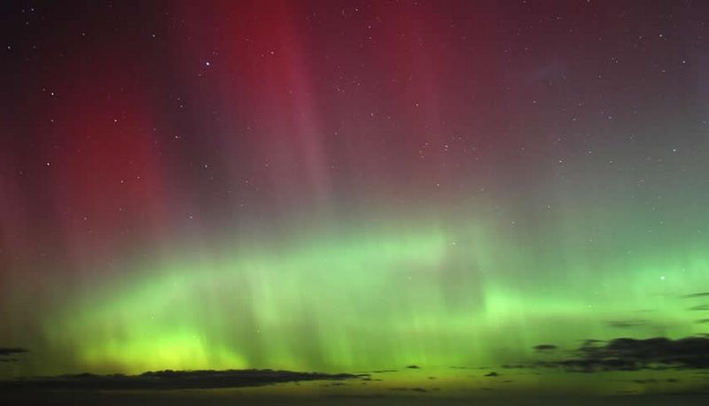 Aurore Australe Australie rouge et verte