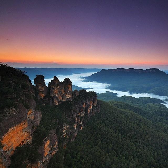 Blue Mountains  Photo Australie Instagram