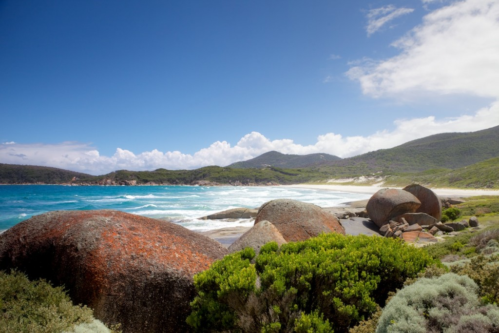 Walk from Tidal River to Whiskey Bay, Via Squeaky Beach and Picnic Bay. Wilsons Promontory