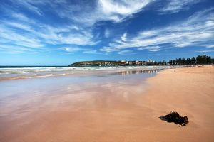 La plage de Manly Beach en Australie