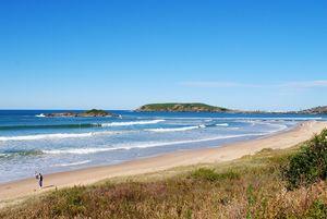 La plage de Park Beach à Newcastle