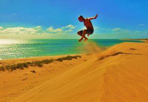 Concours : Un saut sur une plage en Australie