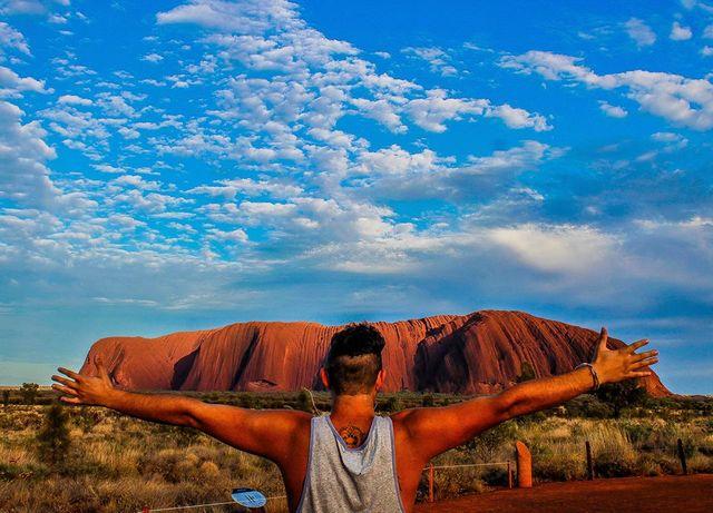 Photo à ULURU en Australie