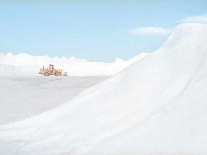 Tracto pelle dans la mine de sel