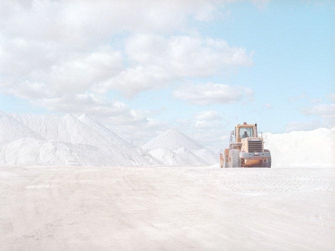 Deuxième tracto pelle dans la mine de sel