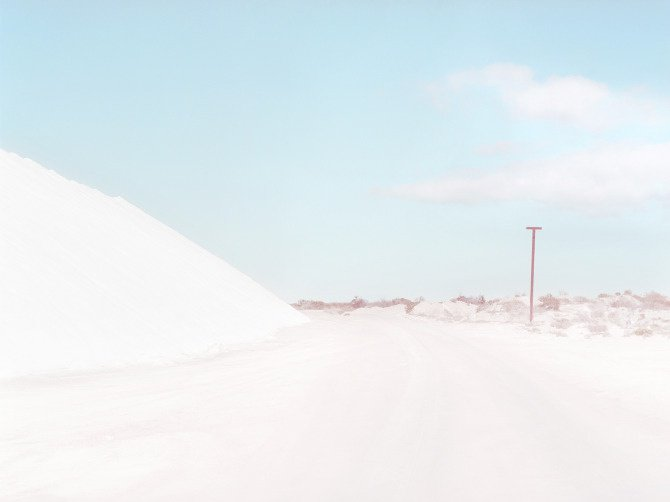 Route dans la mine de sel