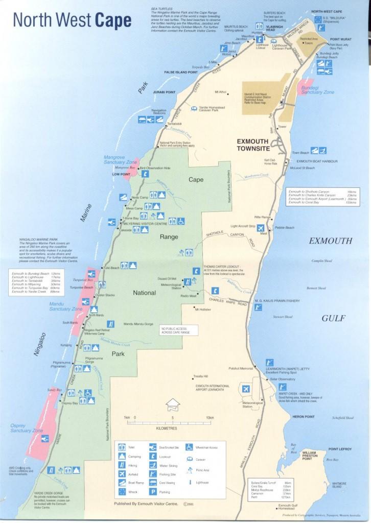 Cape Range Nation park Maps