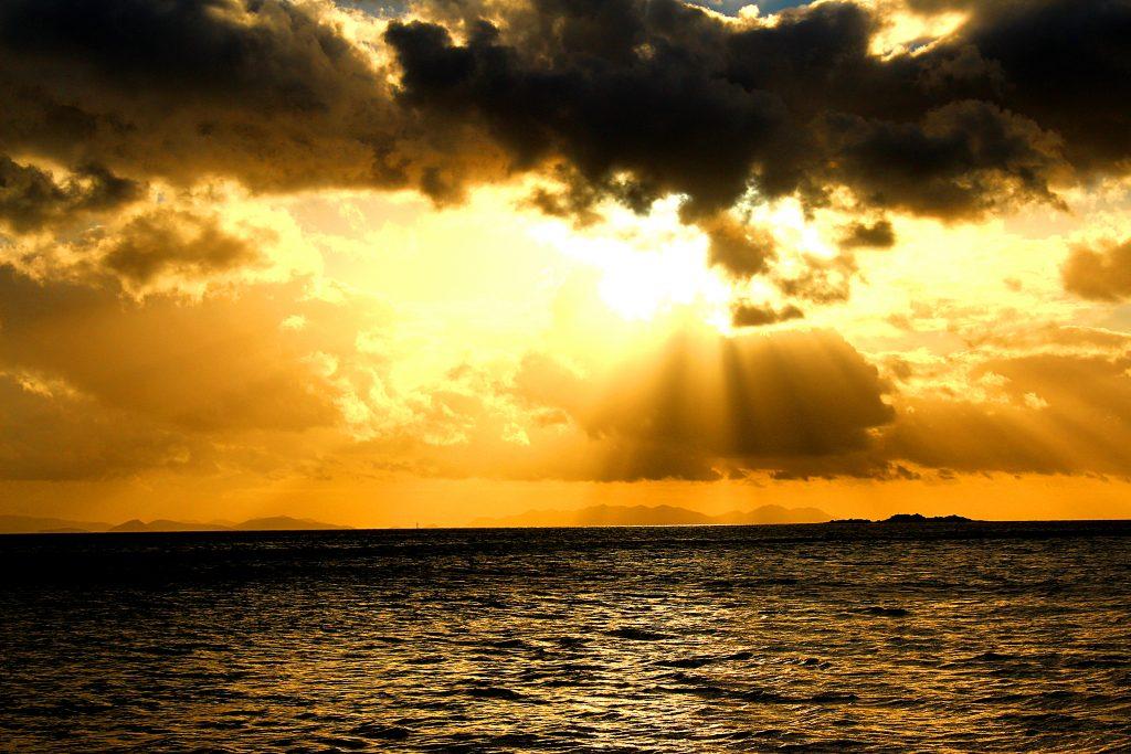Whitsunday islands, coucher de soleil australien