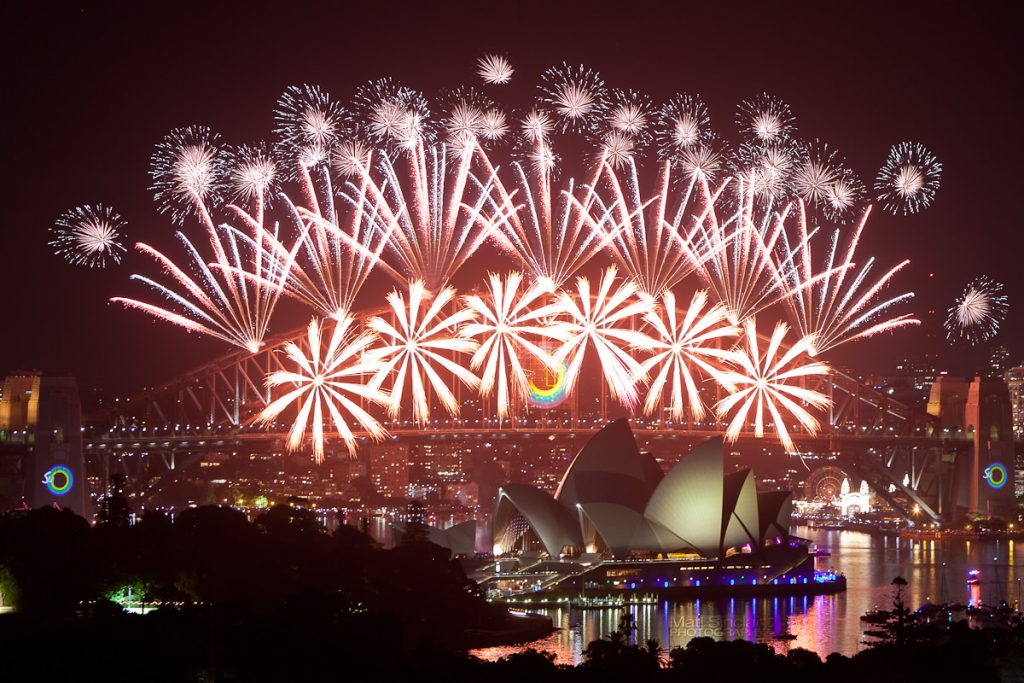 Feu d'artifice à Sydney