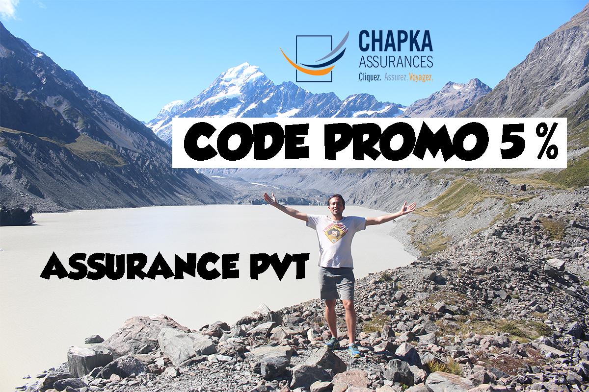 Code promo Chapka assurance voyage – 5% de réduction   PVT