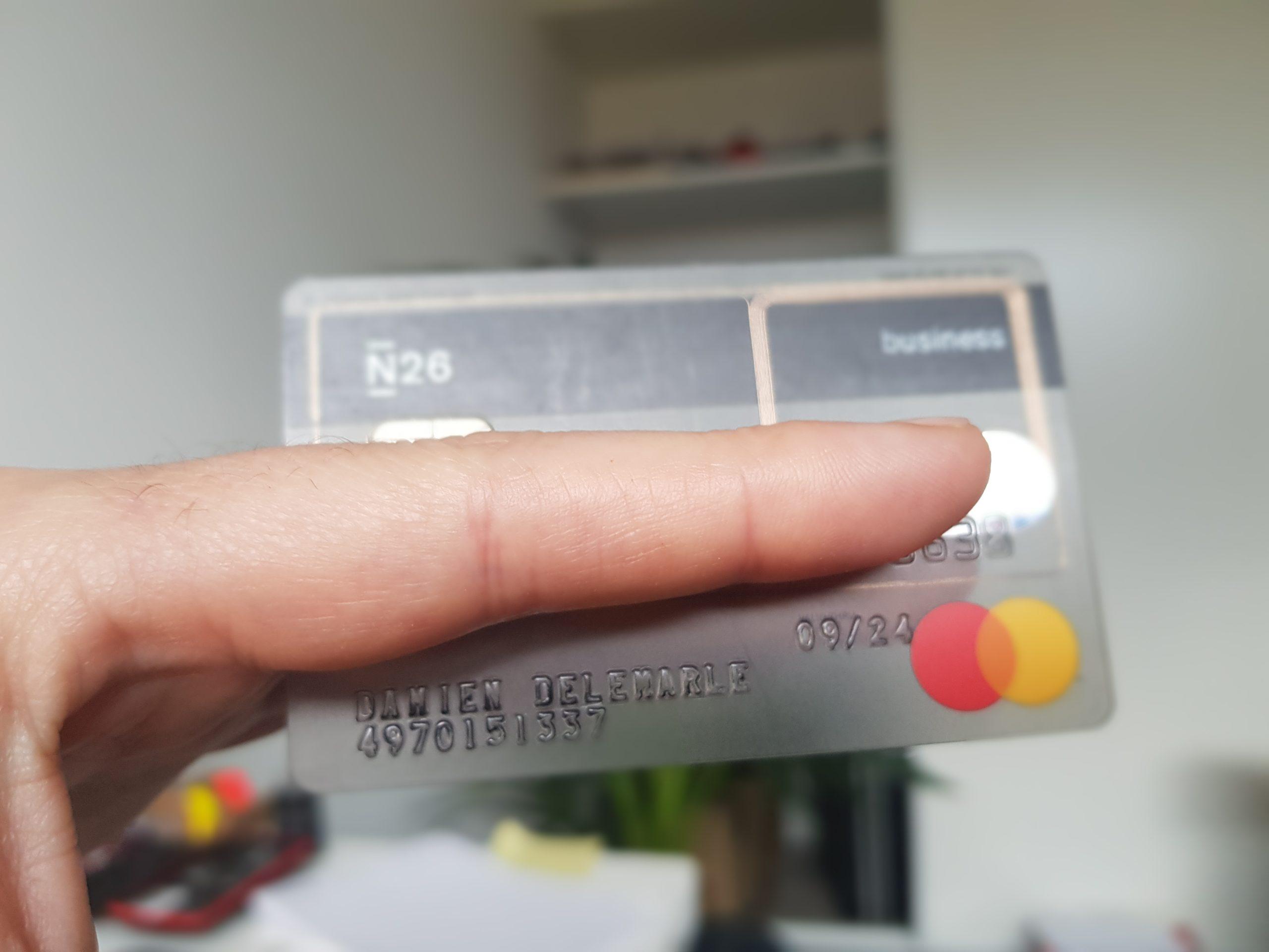 N26 carte visa